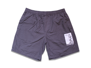 Crime Cat - Shorts - Charcoal