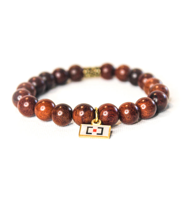 Dark Brown Wooden Beaded Bracelet