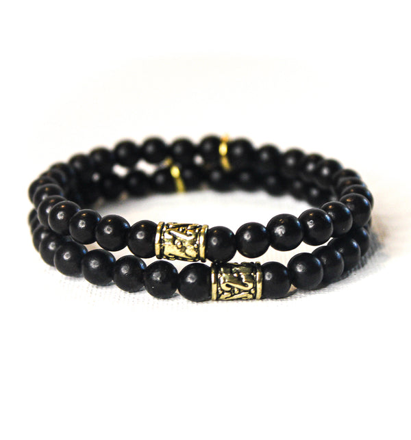 Mini Black Ebony Wooden Beaded Bracelet