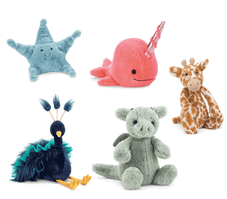 Squishably soft stuffed animals, imagination inspiring play tents and puzzles are all great for your little one.
