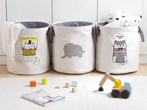 Play room storage doesn't have to be hard and boxy. Our soft and cute buckets are perfect for storing toys and dolls and no one will get bumps on the corners!