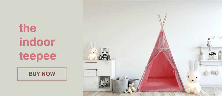 Get a cute teepee tent for kids. It will keep their imaginations busy for hours.