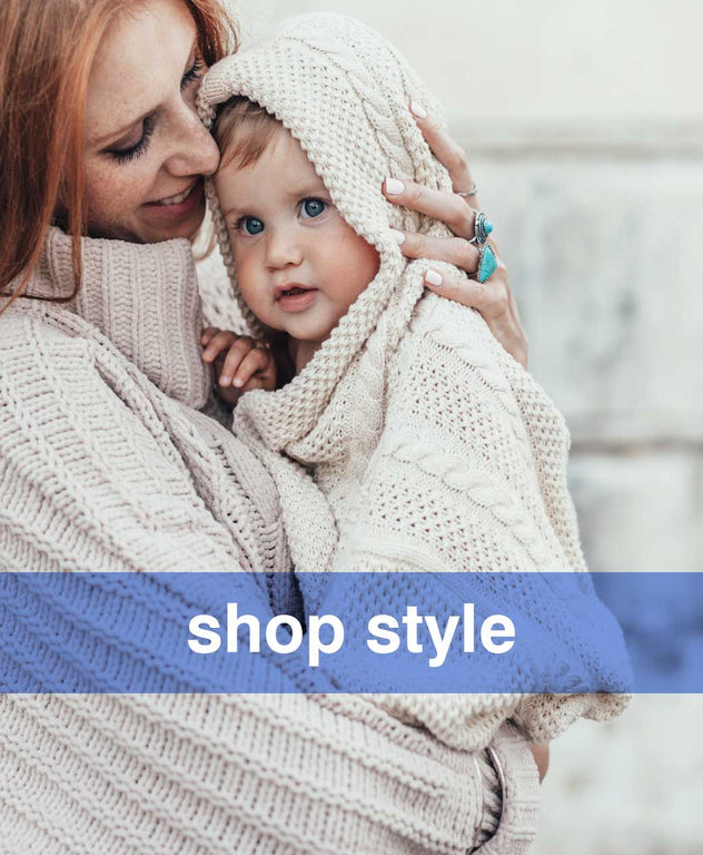 Comfortable clothes and nursing bras for mom, stylish and cute clothes for your baby and toddler.