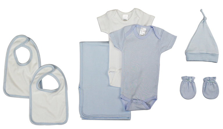 Newborn Baby Boy 7 Pc Layette Baby Shower Gift Set - gobabyco