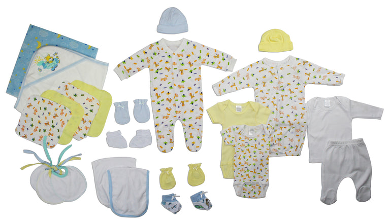 Newborn Baby Boy 23 Pc Layette Baby Shower Gift - gobabyco