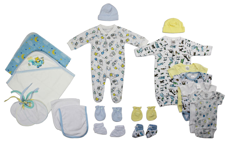 Newborn Baby Boy 19 Pc Layette Baby Shower Gift - gobabyco