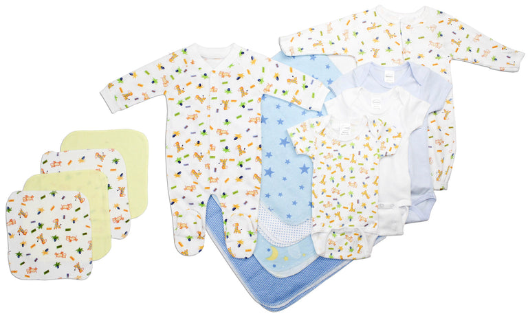 Newborn Baby Boy 13 Pc Layette Baby Shower Gift - gobabyco