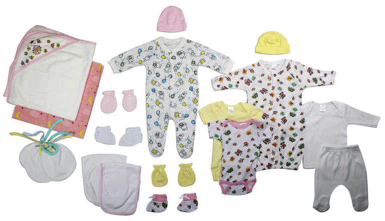 Newborn Baby Girl 19 Pc Layette Baby Shower Gift - gobabyco