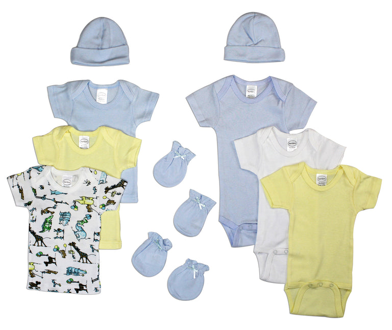 Newborn Baby Boys 10 Pc Layette Baby Shower Gift - gobabyco