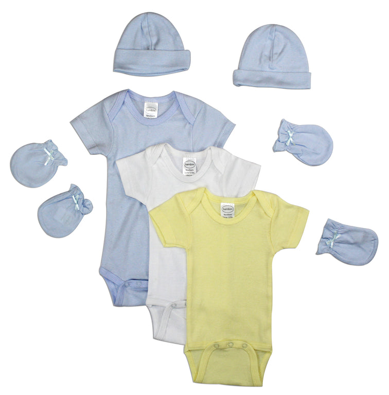 Newborn Baby Boys 7 Pc Layette Baby Shower Gift - gobabyco