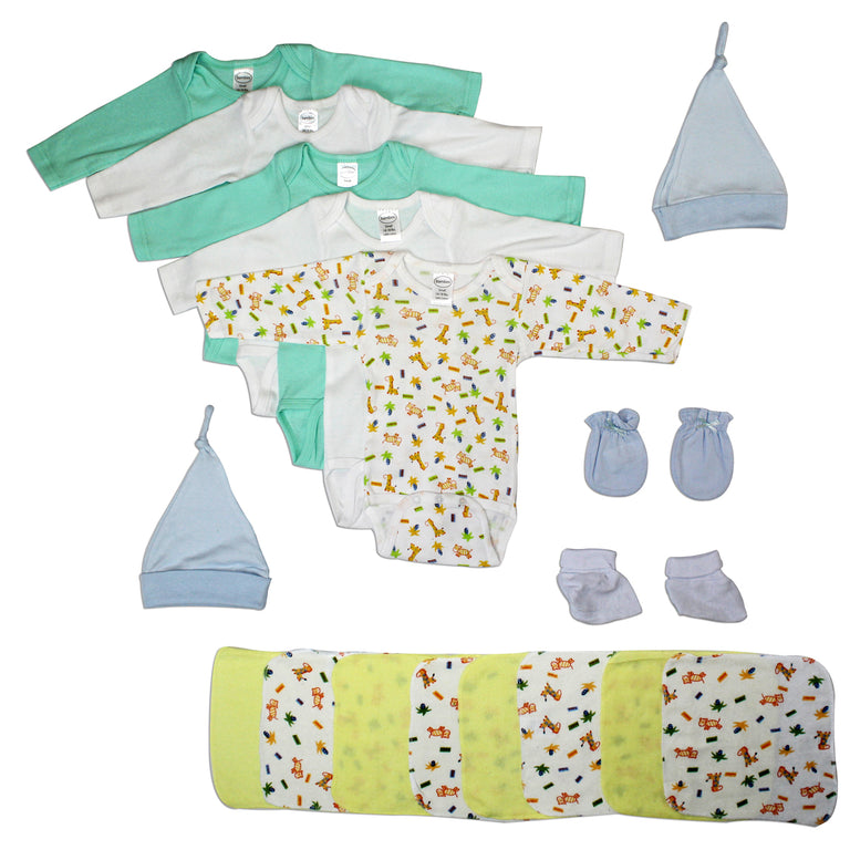 Newborn Baby Boys 21 Pc Layette Baby Shower Gift - gobabyco