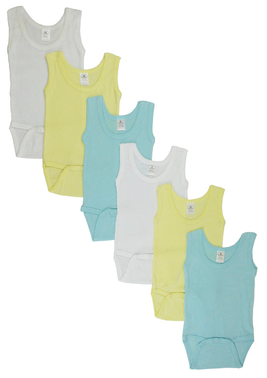 Boys Tank Top Onezies 6 Pack - gobabyco