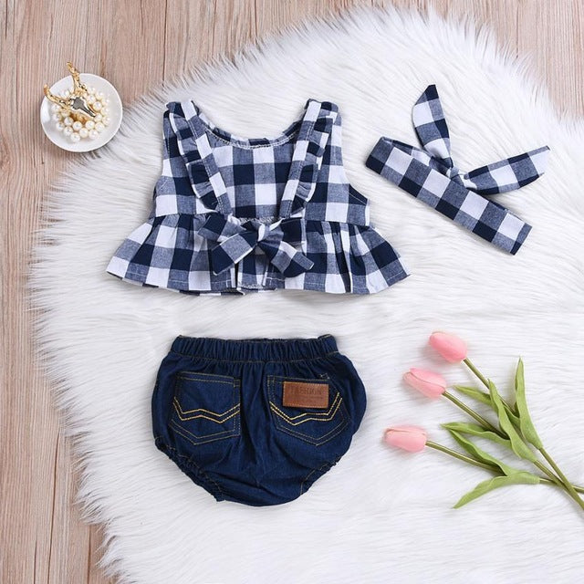 2019 Toddler Baby Girl Summer Plaid Skirted - gobabyco