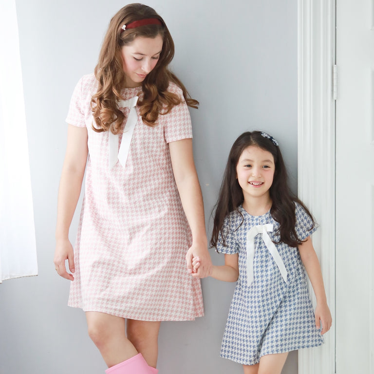 Mother & Daughter Matching Dress : Houndstooth - gobabyco