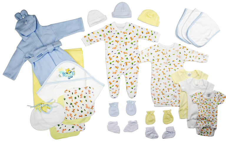 Newborn Baby Boys 25 Pc Layette Baby Shower Gift - gobabyco