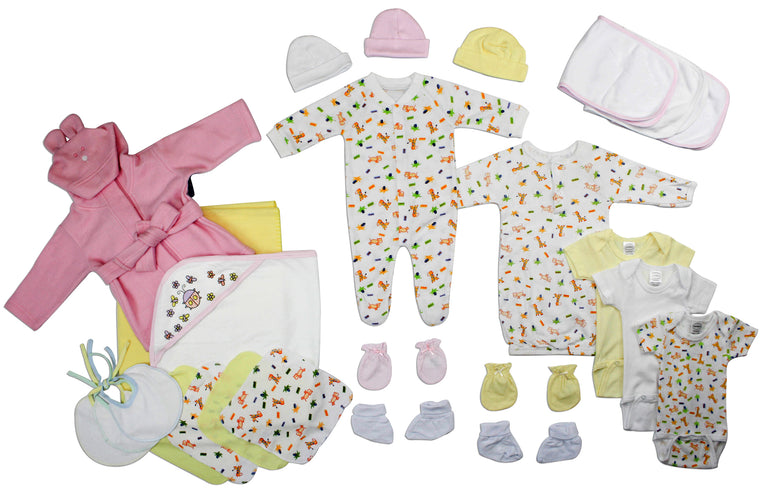 Newborn Baby Girls 25 Pc Layette Baby Shower Gift - gobabyco