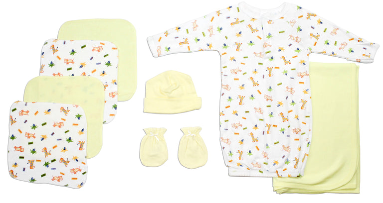 Neutral Newborn Baby 8 Pc Layette Baby Shower Gift - gobabyco