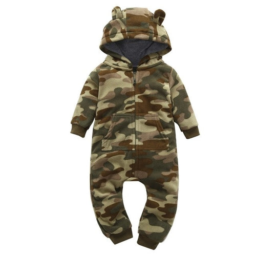 Thick Very Cool Camo Romper - gobabyco