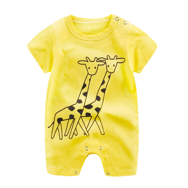 Baby's Animal Cartoon Jumpsuit Romper - gobabyco