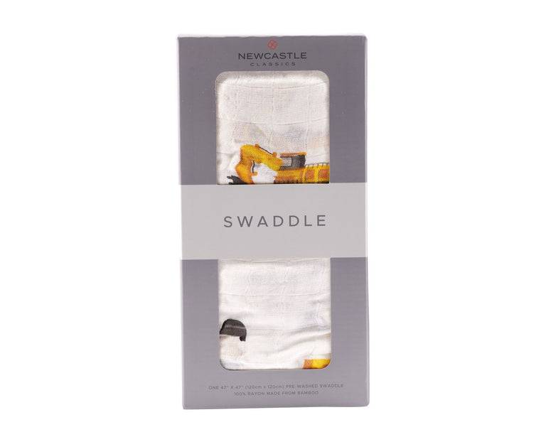 Yellow Digger Swaddle - gobabyco