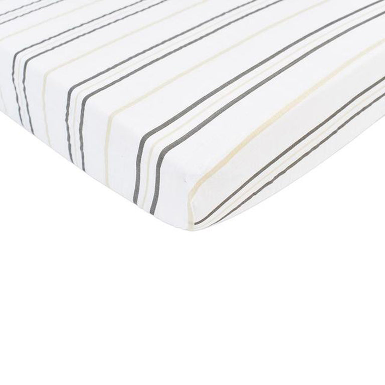 Grey Stripe Crib Sheet - gobabyco