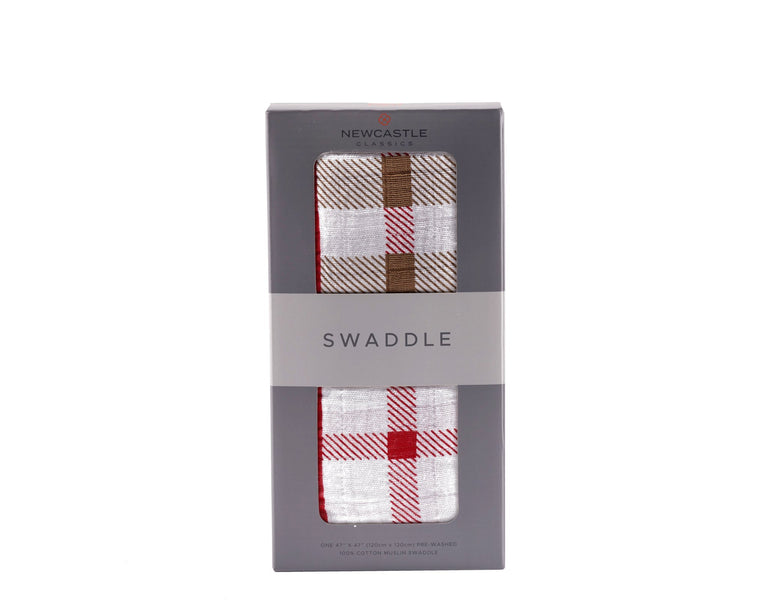 Plaid Swaddle - gobabyco