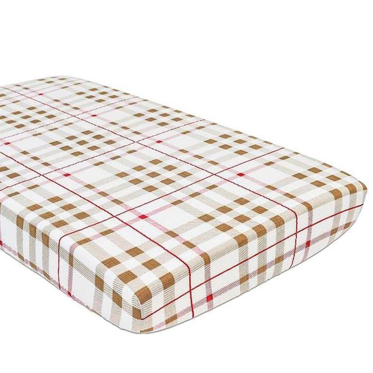 Plaid Crib Sheet - gobabyco