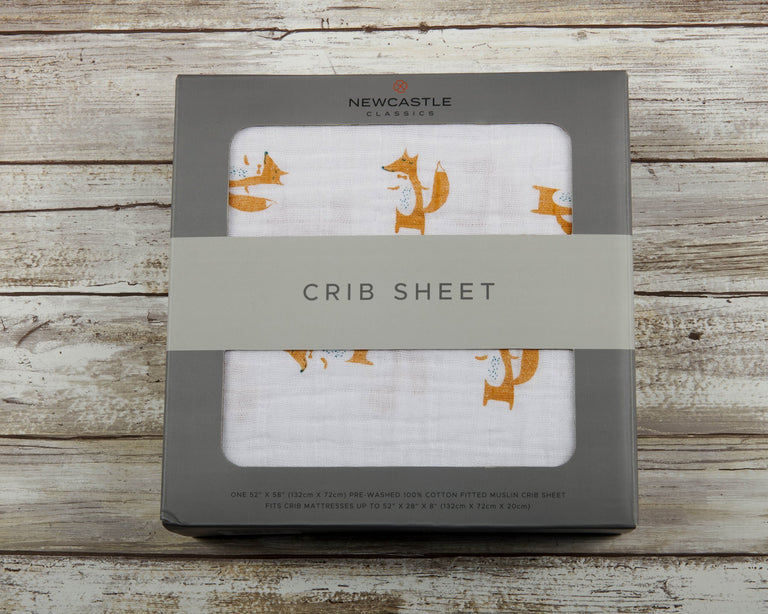 Fancy Fox Crib Sheet - gobabyco
