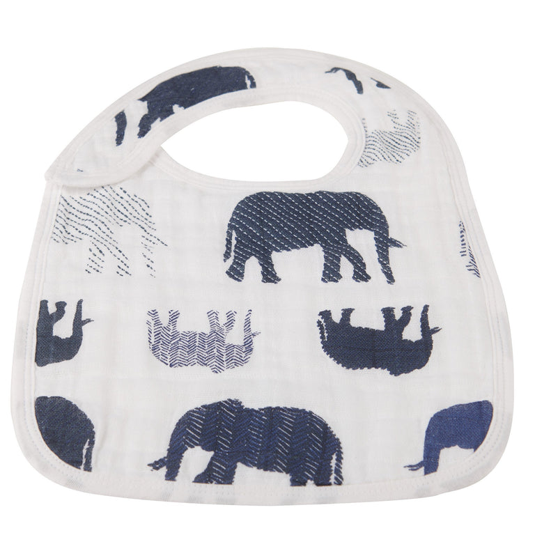 In The Wild Elephant Snap Bibs Set of 3 - gobabyco