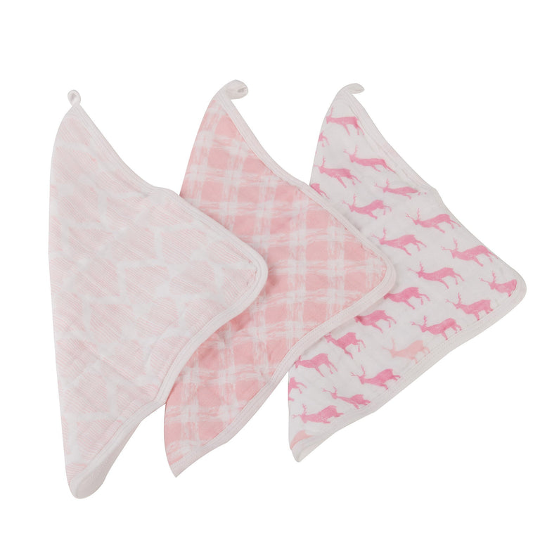 Pop Of Pink Washcloth Set - gobabyco