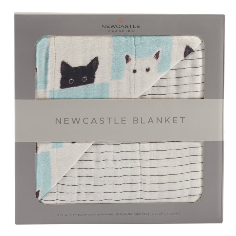 Peek-A-Boo Cats Newcastle Blanket - gobabyco