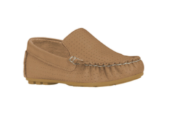 Bibi - Nutmeg Leather Moccasin boys - gobabyco