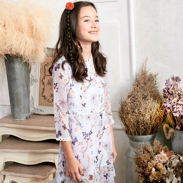 Floral Lace Dress (toddler/girl) - gobabyco