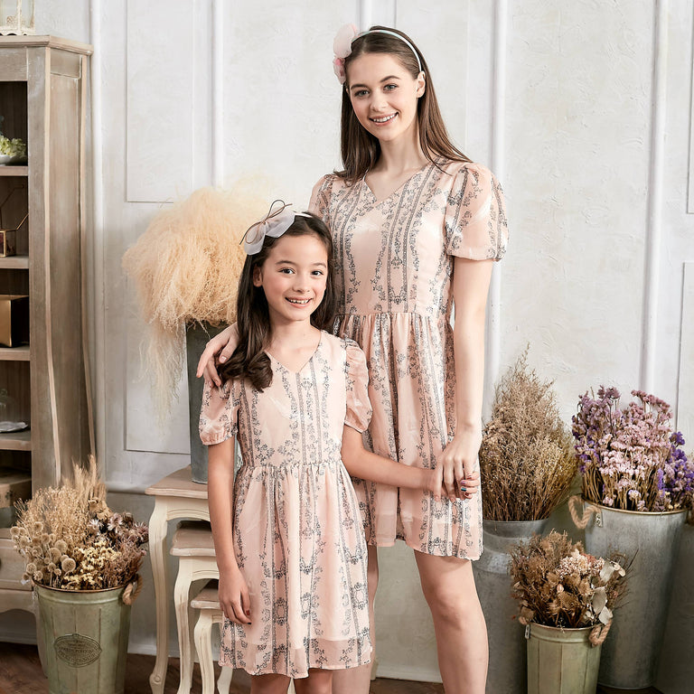 Floral Fit & Flare Dress (Set of 2) - gobabyco