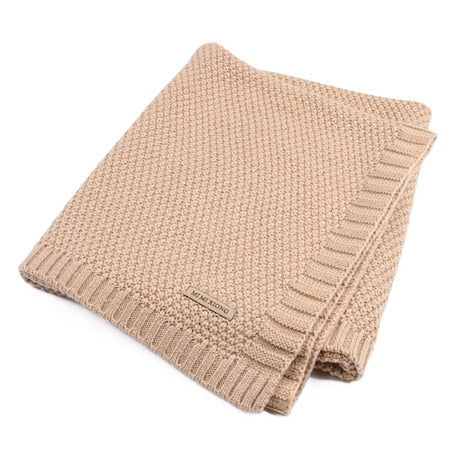 100% Acrylic Fiber Knitted Blankets - gobabyco