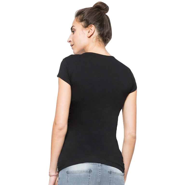 Casual V-neck Short Sleeve Maternity Top - gobabyco