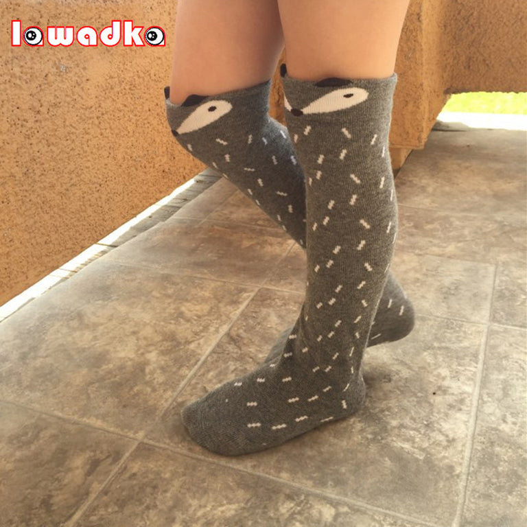 Animal Printed Knee High Baby Socks - gobabyco