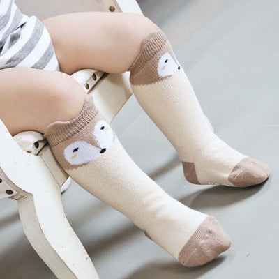 Little Fox Cotton Knee Socks - gobabyco