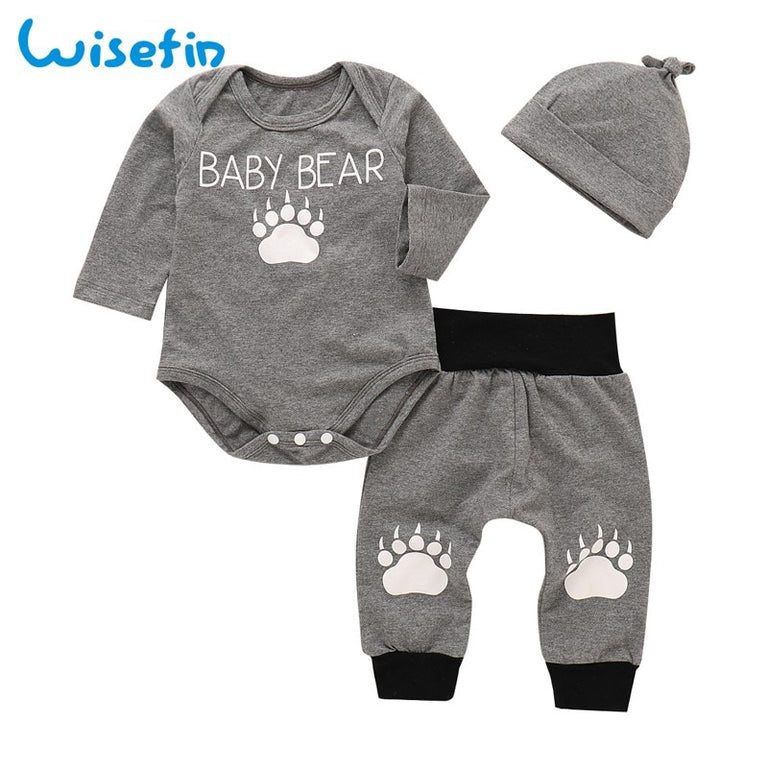 Baby Bear 3 Piece Cotton Outfit - gobabyco