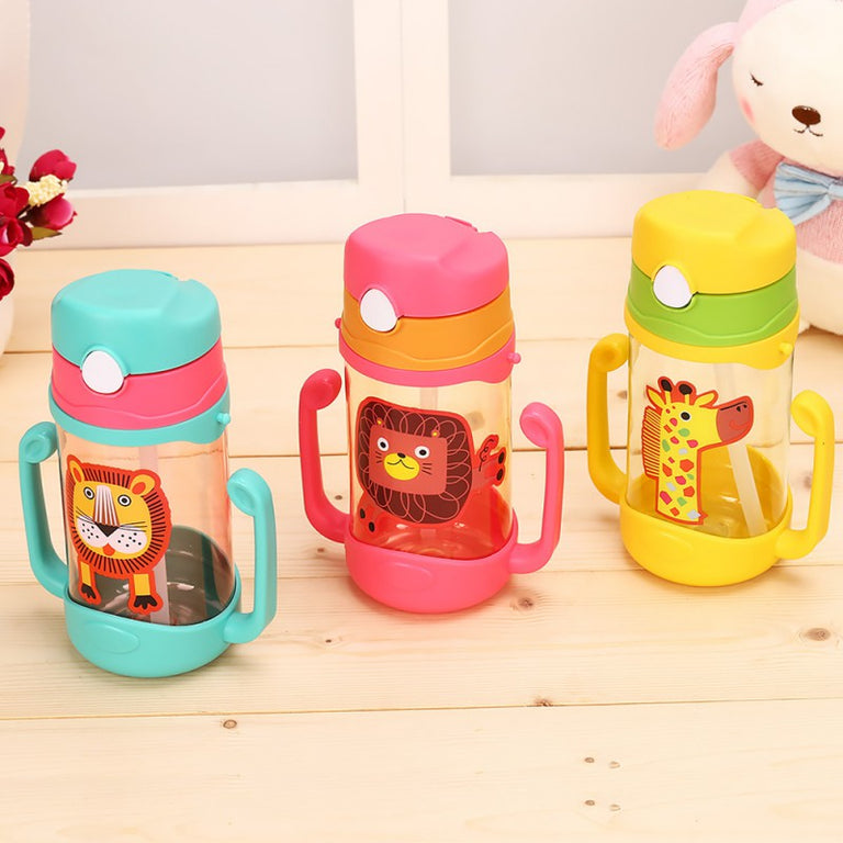 Children's Drinking Cups Decorated with Little Animals Cartoons - gobabyco