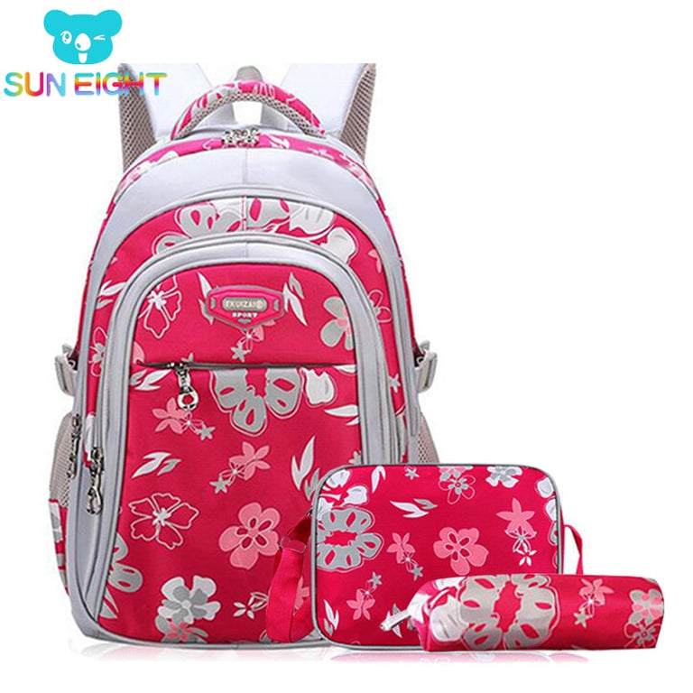 Floral 3 Piece Backpack Set - gobabyco