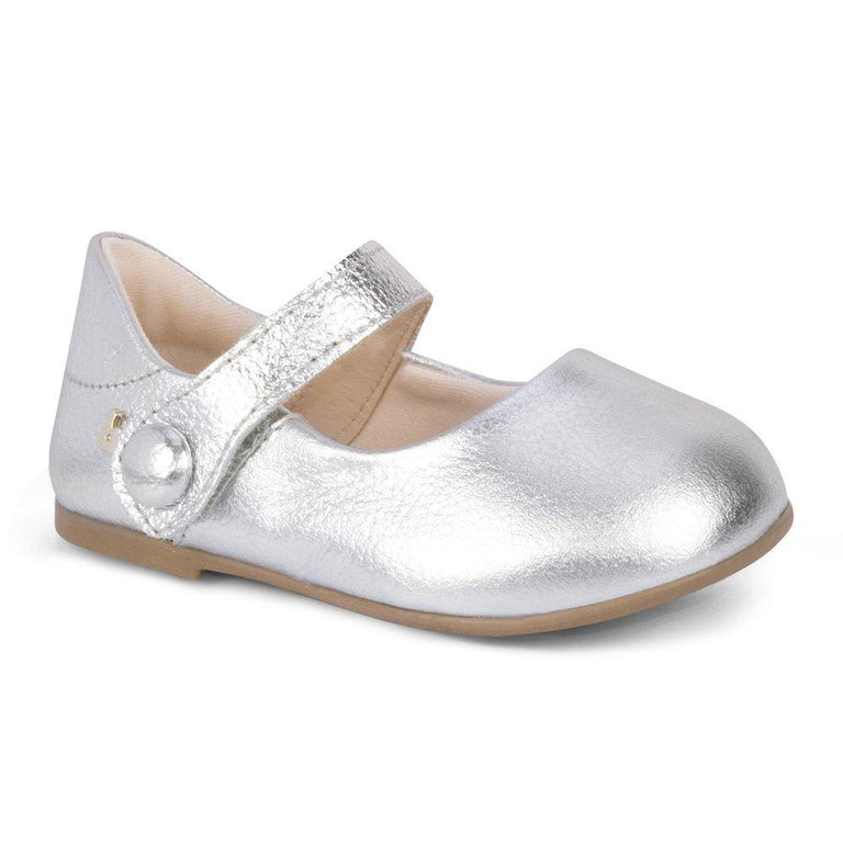 Bibi - Silver Girl Toddler Shoes - Afeto New VII - gobabyco