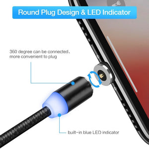 3-in-1 UNIVERSAL MAGNETIC Fast Charging Cable