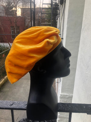 Gold Velvet Bonnet