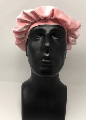 Light Pink Velvet Bonnet