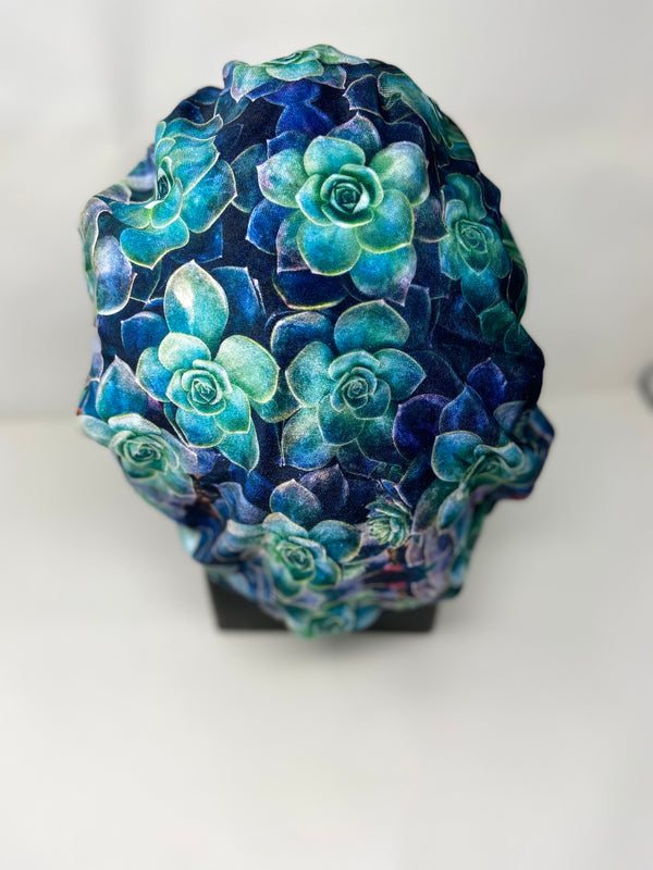 Night Rose Designer Velvet Bonnet