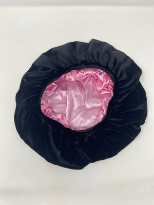Black Velvet Bonnet