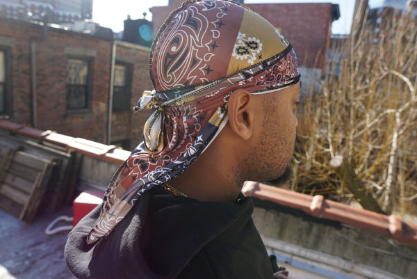 Multi-Color Paisley Designer Silk Durag