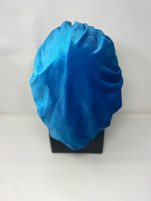 Light Blue Velvet Bonnet