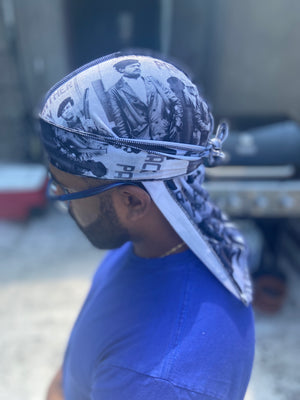 "Black Panther ""Bobby Seale"" Velvet Durag"